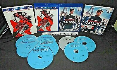 Mission: Impossible 6-Movie Collection (Blu-Ray 2018) NEAR MINT