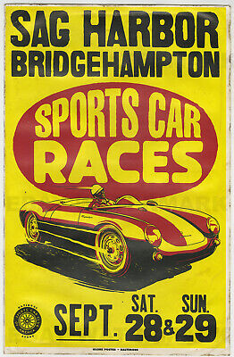 Advertising Charlotte Auto Races 1950's Vintage Style Car Racing Poster 16x24