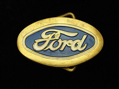 Qi03169 Vintage 1979 **Ford** Motor Company Solid Brass Baron Belt Buckle
