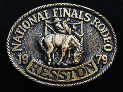 Re11158 *Nos* Nfr ***1979 National Finals Rodeo*** Hesston Collector Belt Buckle