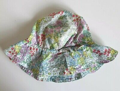Baby Girl GAP Floral Cotton Sun Hat New With Tags 6-12 Months