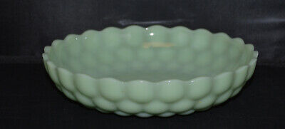 "Vintage Fire King Jadite 8 1/2"" Bubble Bowl - Very Nice"