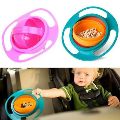 Children Baby Universal 360 Degree Rotate Spill-Proof Gyro Bowl Dishes BE
