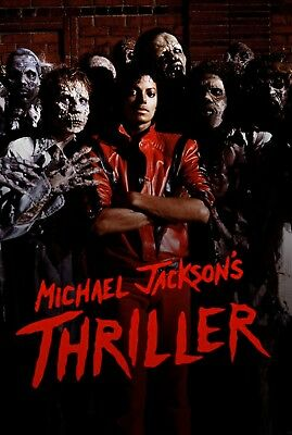 Michael Jackson's Thriller movie poster (a)  : 11 x 17 inches