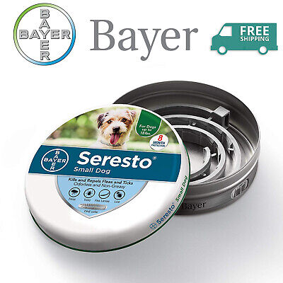 Bayer Seresto Flea and Tick Collar for Small Dog, 8 Month Continuous Protection