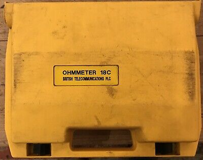 METROHM BRIDGE OHMMETER BT TYPE 18C CABLE FAULT TESTER LOCATOR Preowned