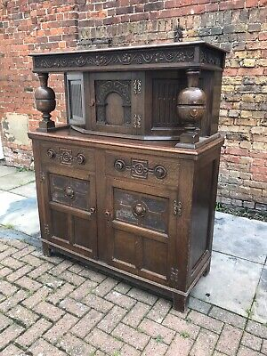 Antique Oak Cabinet. Lots Of Storage, Very Good Quality Indeed.