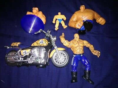 Lot of 5 RARE Vintage Marvel -Fantastic Four 4- The Thing  Action Figures! Nice!