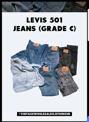 45kg X Levis 501 Grade C/D Jeans Wholesale Job Lot Bundle