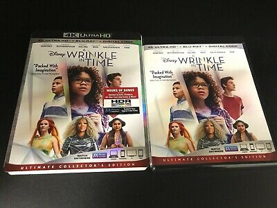 Disney A Wrinkle in Time 4K Ultra HD Blu-ray and Slipcover. NO DIGITAL CODE