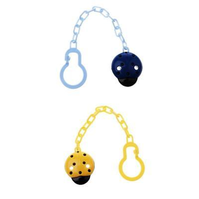 MagiDeal 2Pack Cute Baby Boys / Girls Soother Pacifier Chain Clip Holder New