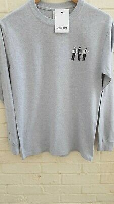 Beastie Boys Ash Grey Rap/Hip-Hop Embroidered Long Sleeve T Shirt All Sizes