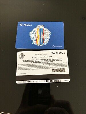 Tim Hortons World Cup Of Hockey Fd53657 Gift Card No Value