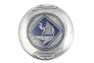 Vintage Sterling Silver Compact Middle Eastern Mosque Signe