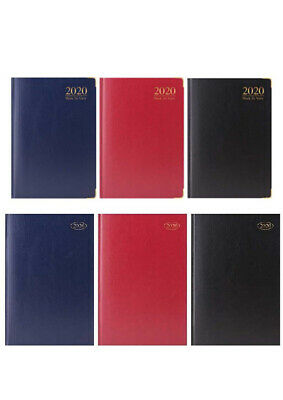 2020 Diary A4 A5 A6 Week To View Book Diary Planner Hardback Cover