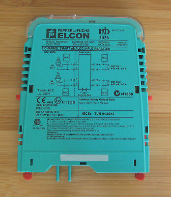 ONE Pepperl+Fuchs ELCON HiD 2026 HiD2026 121429 2Ch Smart Analog Input Repeater
