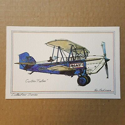Curtiss Falcon Collector Series by Roy Andersen United Airlines litho Postcard