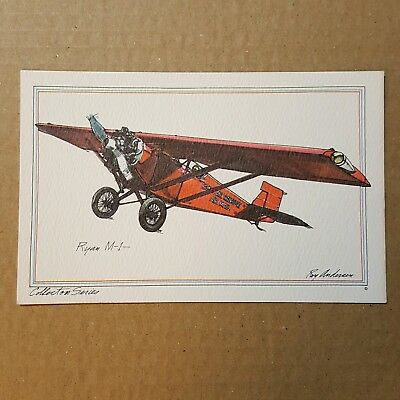 Ryan M-1 Collector Series by Roy Andersen Pacific Trans Air Mail litho Postcard