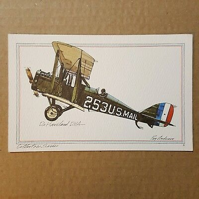 de Havilland D.H.4 Collector Series Roy Andersen United Airlines litho Postcard