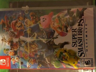 Brand New Factory Sealed Nintendo Switch Game Super Smash Bros Ultimate 2018