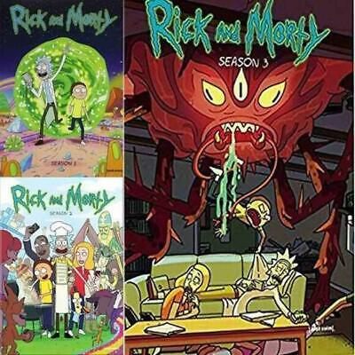 RICK AND MORTY: The Complete Series Seasons 1-3 DVD Set 1 2 3 NEW