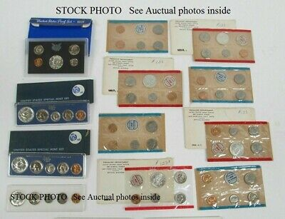 LOT 15 Sets 75 COIN 1964 P D to 1970 D S Proof & Mint Sets 1970 D Kennedy half +