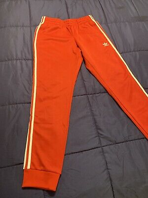 20ca66fa3fa7 Men s Adidas Originals Adicolor Superstar SST Track Pants Red Medium Slim  Fit