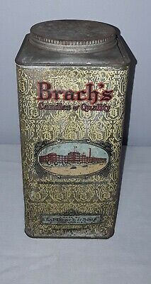 Vintage Brach's Candies Candy Tin 5 Lb Can Chicago