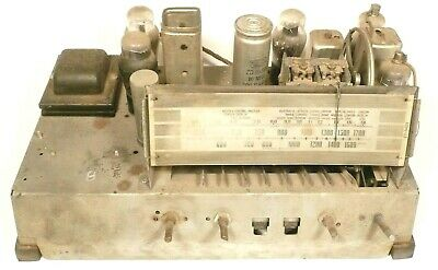 vintage PHILCO 39-31 RADIO:  Untested CHASSIS w/ all 6 tubes