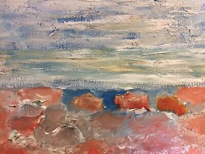 original oil painting seascape signed on 8x10 canvas