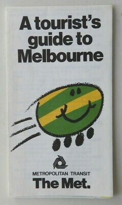 Victorian Railways V/Line The Met fold out guide to Melbourne 80s ERA. EC.