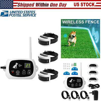 Rechargeable Wireless Fence Waterproof Collar Electric Dog Containment System