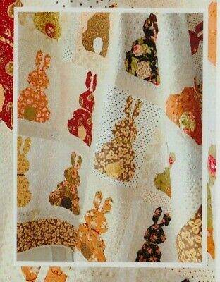 Country Bunnies - fun pieced quilt PATTERN for FQs - The Pattern Basket