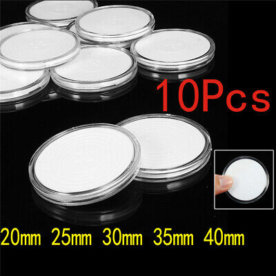 10pcs Capsules Coin Holders Case Plastic Storage Adjustable for 20 25 30 35 40mm
