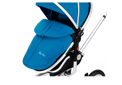 Genuine Silver Cross Surf Footmuff and Seat Liner, Surf Cosytoes - Blue