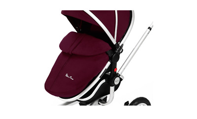 Genuine Silver Cross Surf Footmuff and Seat Liner, Surf Cosytoes - Aubergine