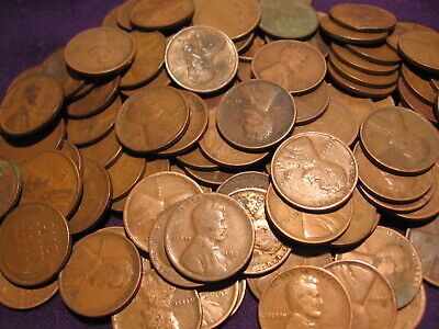 1920-1929 Lincoln Wheat Cent Twenties Lot, 300 Pennies, Ships Free