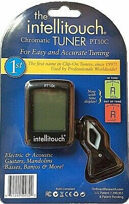 Intellitouch Pt-10C Chromatic Tuner Tunes Most Musical Instruments Inc Guitar