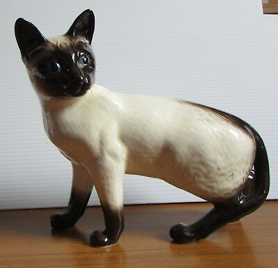 Old Beswick Siamese Cat Porcelain Figurine