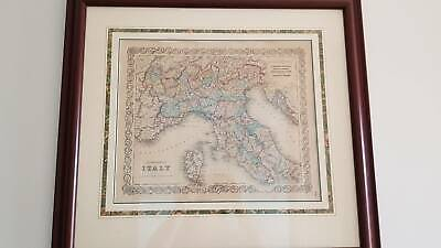 Antique Maps (2) - North & South Italy - J H Colton World Atlas 1855