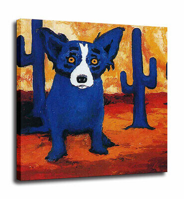 Blue Dog cartoon art HD print canvas picture home decor wall art painting 12X12