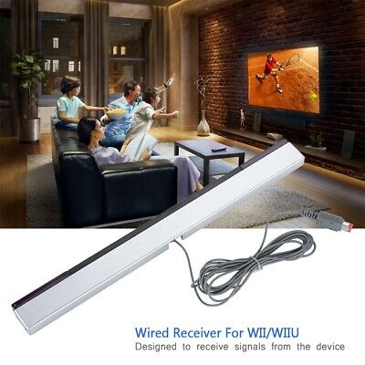 Wired Infrared IR Signal Sensor Bar/Receiver & Stand for Nintendo WII Remote ZZ