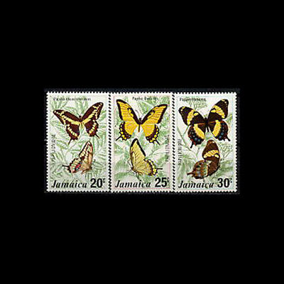 Jamaica, Sc #399-01, MNH, 1975, Butterflies, insects, 4GHI