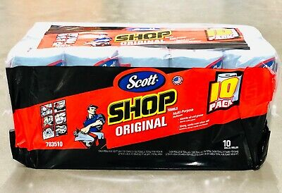 "Scott Shop 10-Pack 55 Towels Per Roll  Sheet Size 11"" X 10.4"""