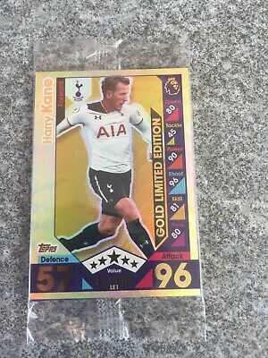 Match Attax 2016/17 Harry Kane Gold Limited Edition Le1G Mint