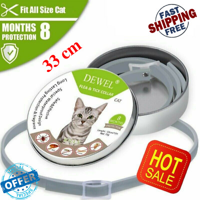 Dewel 33 cm Soresto Cats Flea And Tick Collar Pet Cats Dogs 8 Month Protection