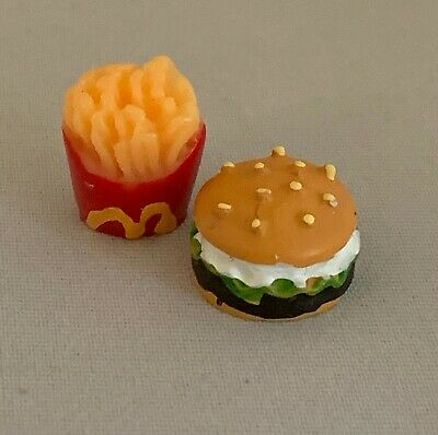 Dolls House Miniature 1/12th Scale Representation of Burger and Fries