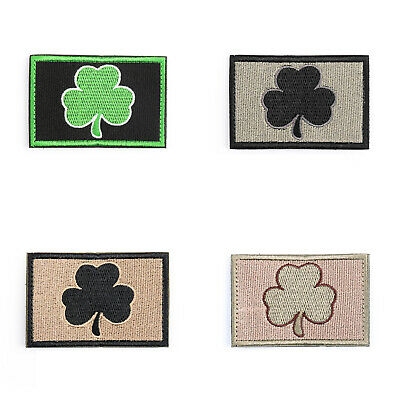SUBDUED IRISH MILITRAY TACTICAL MORALE Gestickt Aufnäher Hook Loop Abzeichen A3