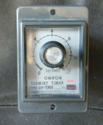 Omron STP-YMH 0-12 seconds Subminy Timer 240v