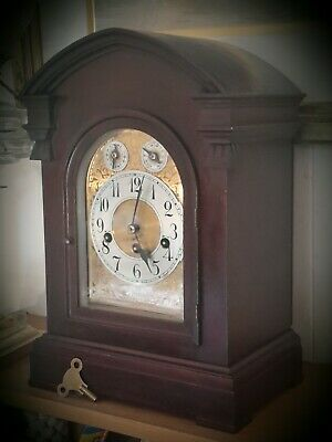 Substantial early 20th C Junghans clock with Westminster Chime.